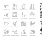 set of 16 thin linear icons... | Shutterstock .eps vector #1328924234