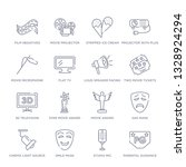 set of 16 thin linear icons... | Shutterstock .eps vector #1328924294