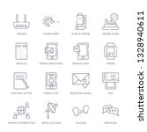 set of 16 thin linear icons... | Shutterstock .eps vector #1328940611