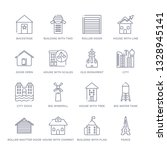 set of 16 thin linear icons... | Shutterstock .eps vector #1328945141