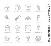 set of 16 thin linear icons... | Shutterstock .eps vector #1328945237