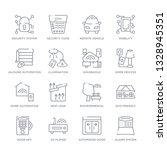 set of 16 thin linear icons... | Shutterstock .eps vector #1328945351