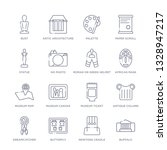 set of 16 thin linear icons... | Shutterstock .eps vector #1328947217