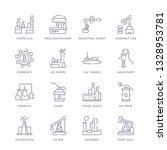 set of 16 thin linear icons... | Shutterstock .eps vector #1328953781