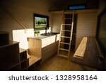 mobile tiny house interior.... | Shutterstock . vector #1328958164