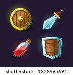 set of vector icons  objects ... | Shutterstock .eps vector #1328965691