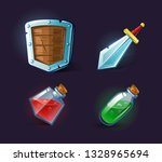 set of vector icons  objects ... | Shutterstock .eps vector #1328965694