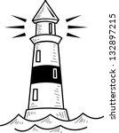 lighthouse  vector illustration | Shutterstock .eps vector #132897215