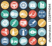 car service icons set on color... | Shutterstock .eps vector #1328994044