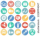 car service icons set on color... | Shutterstock .eps vector #1328994047