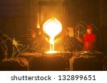 iron and steel industry | Shutterstock . vector #132899651