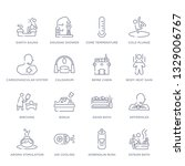 set of 16 thin linear icons...   Shutterstock .eps vector #1329006767