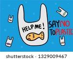 fish in plastic bags in water... | Shutterstock .eps vector #1329009467