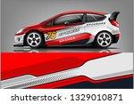 racing car wrap livery design....   Shutterstock .eps vector #1329010871