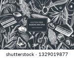 gluten free baking design.... | Shutterstock .eps vector #1329019877