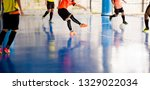 futsal player  trap and control ... | Shutterstock . vector #1329022034