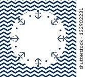 round navy blue and white frame ... | Shutterstock .eps vector #132902231