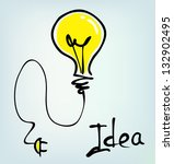 bulb hand drawn idea | Shutterstock .eps vector #132902495