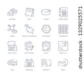 set of 16 thin linear icons...   Shutterstock .eps vector #1329025571