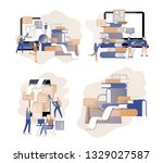 concept landing page template... | Shutterstock .eps vector #1329027587