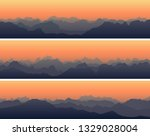 set of horizontal banners with... | Shutterstock .eps vector #1329028004