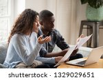 concerned mixed race husband... | Shutterstock . vector #1329029651