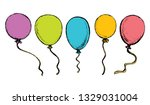 cute vibrant merry rise oxygen... | Shutterstock .eps vector #1329031004