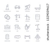 set of 16 thin linear icons... | Shutterstock .eps vector #1329039617