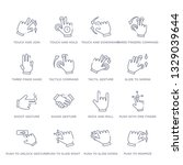 set of 16 thin linear icons... | Shutterstock .eps vector #1329039644