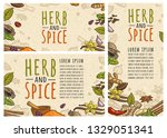 set posters with pepper ...   Shutterstock .eps vector #1329051341