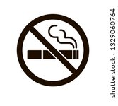 no smoking sign. smoke vector... | Shutterstock .eps vector #1329060764
