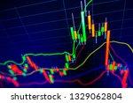 stock exchange market graph on...   Shutterstock . vector #1329062804