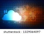2d rendering cloud computing   Shutterstock . vector #1329064097
