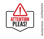 attention please  important... | Shutterstock .eps vector #1329065654