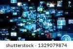 social media concept. network... | Shutterstock . vector #1329079874