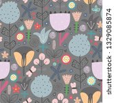 cute seamless pattern with... | Shutterstock .eps vector #1329085874