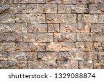 gray stone wall   Shutterstock . vector #1329088874