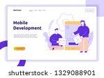 vector mobile application or... | Shutterstock .eps vector #1329088901