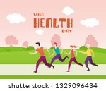 running people and lettering... | Shutterstock .eps vector #1329096434
