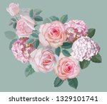 flower beautiful bouquet with... | Shutterstock .eps vector #1329101741
