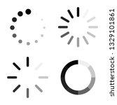set loading icons. load. load... | Shutterstock .eps vector #1329101861
