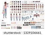 fashionable girl creation set... | Shutterstock .eps vector #1329106661