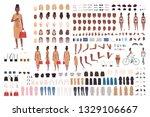 african american hipster girl... | Shutterstock .eps vector #1329106667