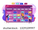 tiny business people at...   Shutterstock .eps vector #1329109997
