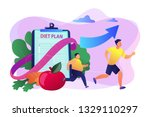 businessman running and losing... | Shutterstock .eps vector #1329110297