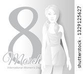 women's day background | Shutterstock .eps vector #1329125627