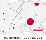 new memphis style vector...   Shutterstock .eps vector #1329167231