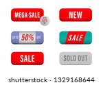 sale and new tag label. price...   Shutterstock .eps vector #1329168644