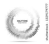 halftone circle dotted frame... | Shutterstock . vector #1329179777