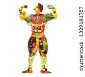 creative diet food healthy...   Shutterstock . vector #1329181757
